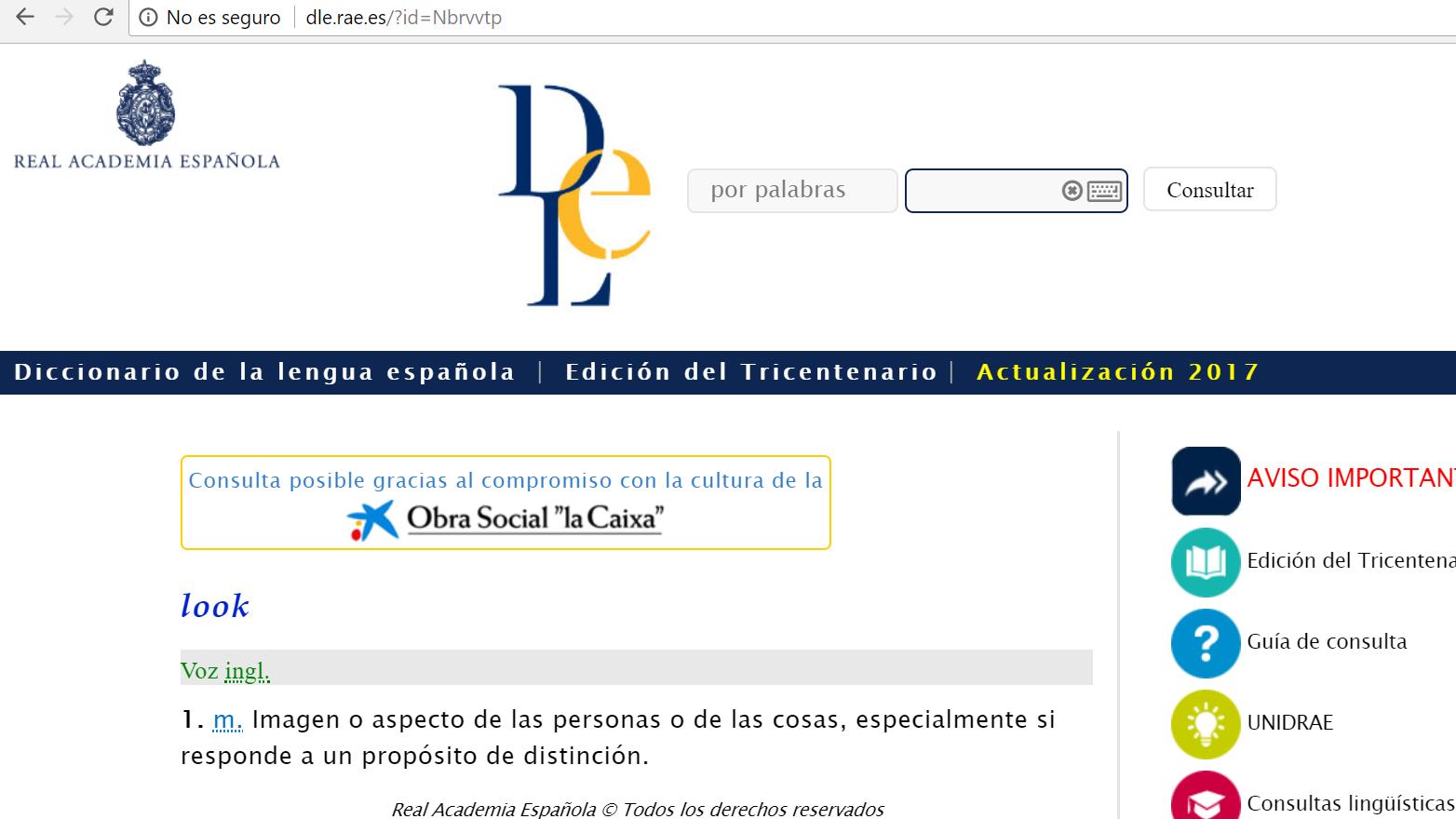 Diccionario de la real academia española: DRAE