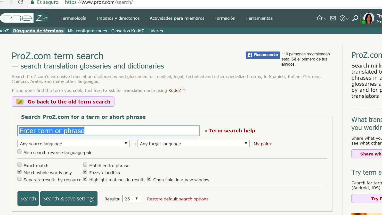 diccionarios y glosarios: proz