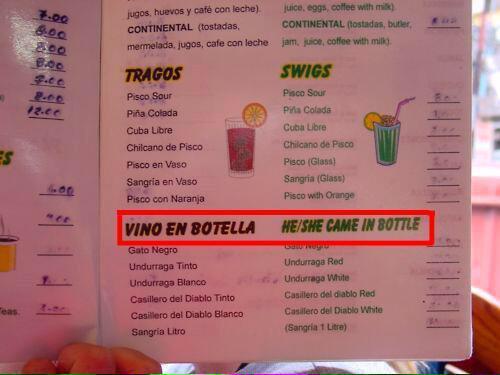 error traduccion carta restaurante