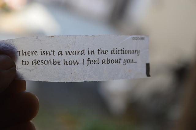 Phrase d'amour en anglais