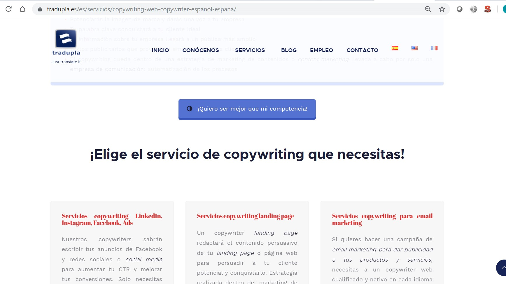 servicios de copywriting