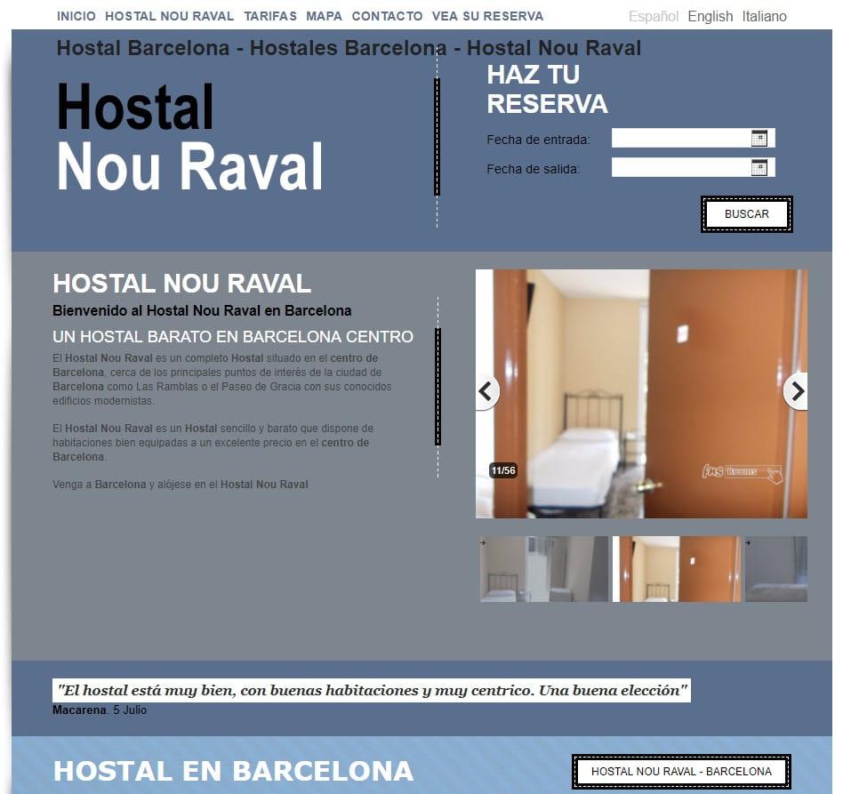 copywriter turismo Hostal Nou Raval